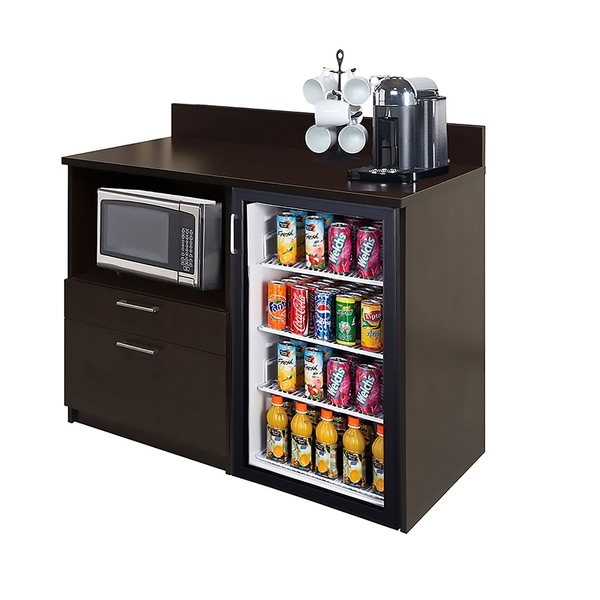 Coffee Break Room Cabinets ASSEMBLED Model O4P0A1L0S 2pc Espresso