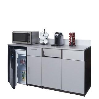 Coffee Break Room Cabinets ASSEMBLED Model O4P0A2L2S 2pc EspressoGray