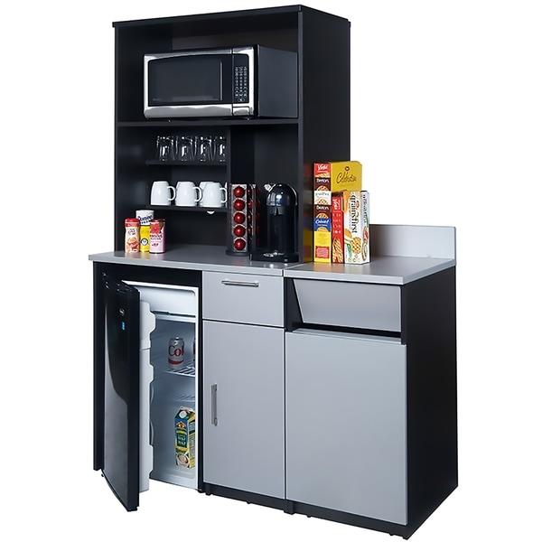 Coffee Break Room Cabinets ASSEMBLED Model O4P0A7L2S 3pc EspressoGray