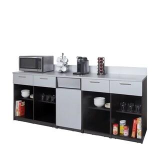 Coffee Break Room Cabinets ASSEMBLED Model O4P0A4L8S 3pc EspressoGray