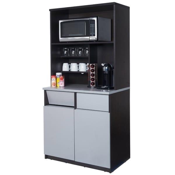 Coffee Break Room Cabinets ASSEMBLED Model O4P0A3L6S 2pc EspressoGray