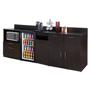 Coffee Break Room Cabinets ASSEMBLED Model O4P0A5L1S 3pc Espresso