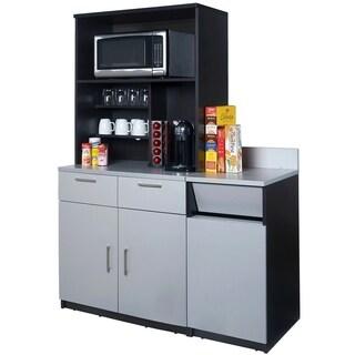 Coffee Break Room Cabinets ASSEMBLED Model O4P0A5L8S 3pc EspressoGray