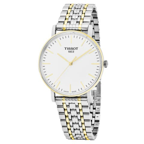 Tissot Men's T109.410.22.031.00 'Everytime' Silver Dial Two Tone Stainless Steel Swiss Quartz Watch