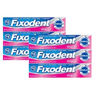 Fixodent Complete 2.4-ounce Original Dental Adhesive Cream (Pack of 6)