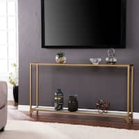 Silver Orchid Grant Gold Narrow Metal Console Table