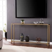 Silver Orchid Grant Narrow Metal Console Table