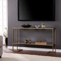 Silver Orchid Grant Glam Gold Console Table