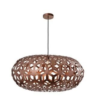 Sella Brown Wood 39-inch Pendant Lamp