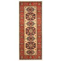 Handmade Herat Oriental Afghan Hand-knotted Tribal Kazak Wool Runner (2'2 x 5'8)