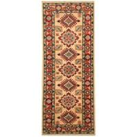 Handmade Herat Oriental Afghan Hand-knotted Tribal Kazak Wool Runner (Afghanistan) - 2'1 x 5'3