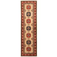 Handmade Herat Oriental Afghan Hand-knotted Tribal Kazak Wool Runner - 2'9 x 9'8