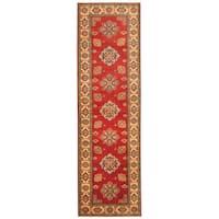 Handmade Herat Oriental Afghan Hand-knotted Tribal Kazak Wool Runner (2'9 x 10') - 2'9 x 10'