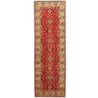 Handmade Herat Oriental Afghan Hand-knotted Tribal Kazak Wool Runner (2'9 x 8'4)