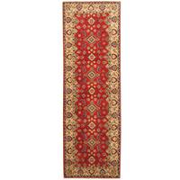Handmade Herat Oriental Afghan Hand-knotted Tribal Kazak Wool Runner (2'9 x 8'4) - 2'9 x 8'4