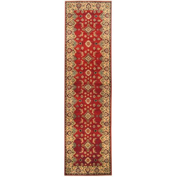 Handmade Herat Oriental Afghan Hand-knotted Tribal Kazak Wool Runner - 2'8 x 10'7