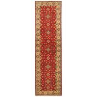 Handmade Herat Oriental Afghan Hand-knotted Tribal Kazak Wool Runner (Afghanistan) - 2'7 x 9'9