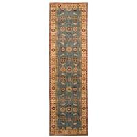Handmade Herat Oriental Afghan Hand-knotted Tribal Kazak Wool Runner (Afghanistan) - 2'8 x 9'7