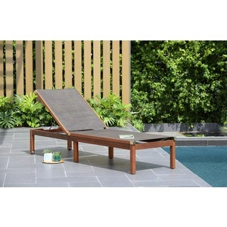 Amazonia Slash Patio Lounger with Sling  sc 1 st  Overstock : overstock chaise - Sectionals, Sofas & Couches