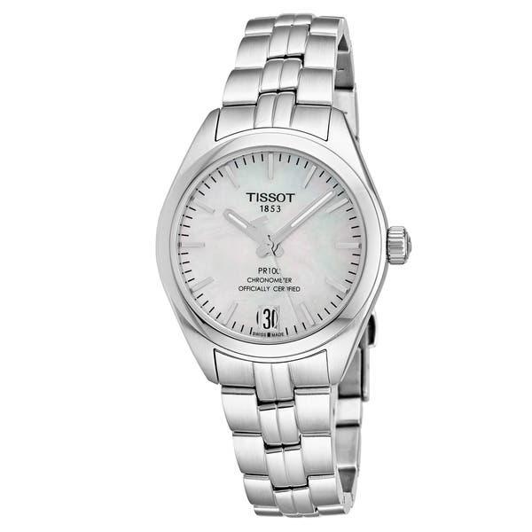 Shop Tissot Women S T101 208 11 111 00 Pr 100 Mother Of Pearl Dial