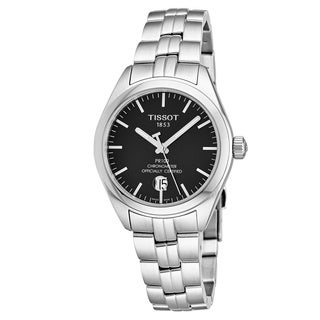 Tissot Women's T101.208.11.051.00 'PR 100' Black Dial Stainless Steel Swiss Powermatic 80 COSC Watch