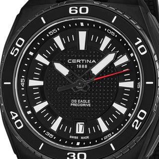 Certina Men's C023.710.17.051.00 'DS Eagle' Black Dial Black Rubber Strap Swiss Quartz Watch