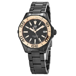 Tag Heuer Women's WAY1355.BH0716 '300 Aquaracer' Black Dial Black Ceramic Swiss Quartz Watch