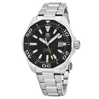 Tag Heuer Men's WAY201A.BA0927 '300 Aquaracer' Black Dial Stainless Steel Swiss Automatic Watch