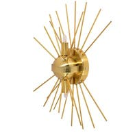 2Lt Wall Sconce, Gold & Vintage Bronze Finish