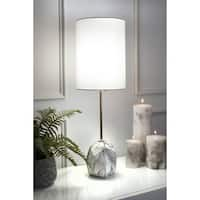 "Watch Hill 27""  Maya Ceramic Linen Shade Table Lamp"