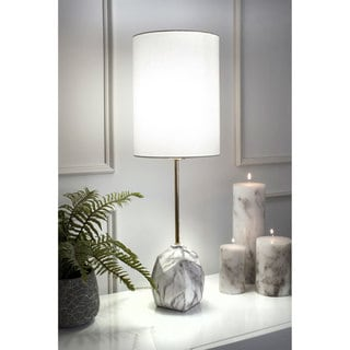 """Link to nuLOOM 27""""  Maya Ceramic Linen Shade Table Lamp - 27"""" h x 9"""" w x 9"""" d Similar Items in Table Lamps"""