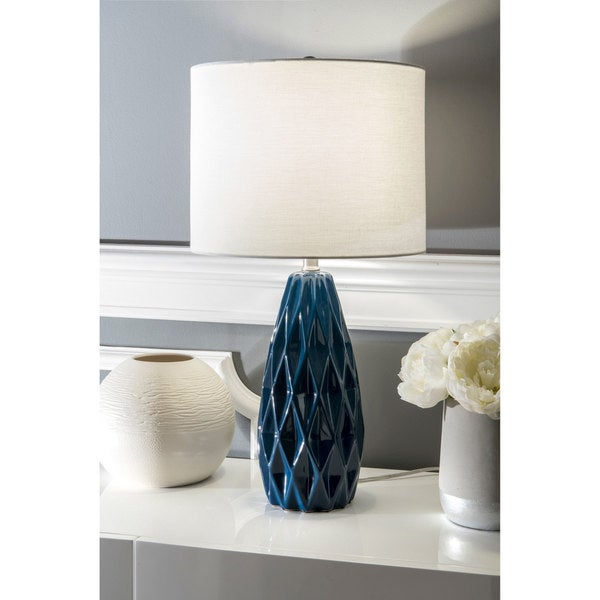 """Watch Hill 25"""" Taylor Ceramic Linen Shade Table Lamp"""