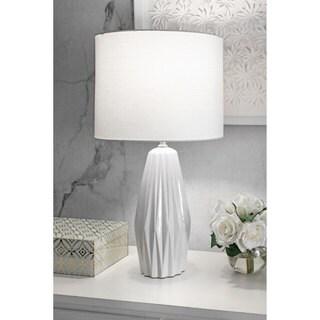 "Watch Hill 25"" Eva Ceramic Linen Shade Table Lamp"
