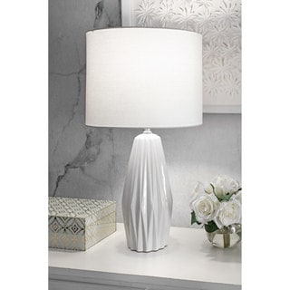 """Link to nuLOOM 25"""" Eva Ceramic Linen Shade Table Lamp - 25"""" h x 13"""" w x 13"""" d Similar Items in Table Lamps"""