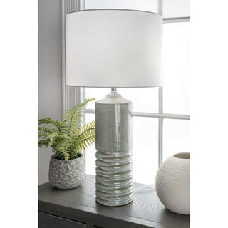 Link to Watch Hill 27-inch Naomi Ceramic Linen Shade Light Sage Table Lamp Similar Items in Table Lamps