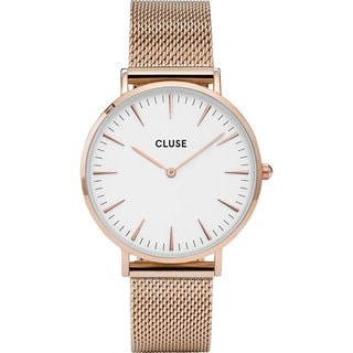 Cluse MINUIT Women's CL30013 Rose-tone Stainless Steel Mesh Watch