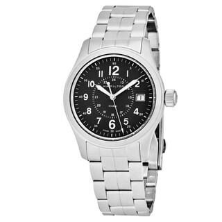 Hamilton Men's H68201163 'Khaki Field' Green Dial Stainless Steel Swiss Quartz Military Watch