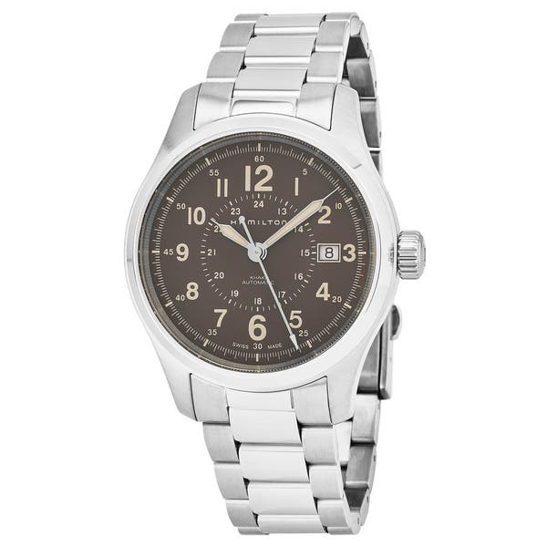 64e804c15b7 Hamilton Men s H70305193  Khaki Field  Brown Dial Stainless Steel Swiss  Automatic Military Watch ...