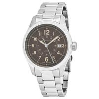 Hamilton Men's H70305193 'Khaki Field' Brown Dial Stainless Steel Swiss Automatic Military Watch