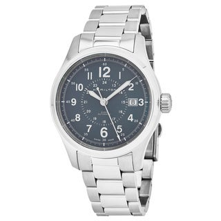 Hamilton Men's H70305143 'Khaki Field' Blue Dial Stainless Steel Swiss Automatic Military Watch