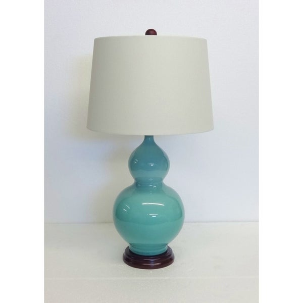 Double Gourd Porcelain Table Lamp