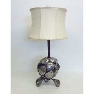 Golf Clubs Round Table Lamp