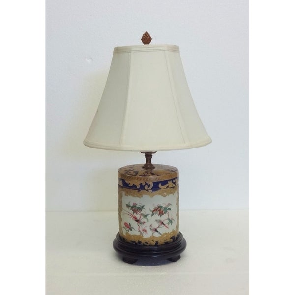 Royal Medallion Round Porcelain Table Lamp
