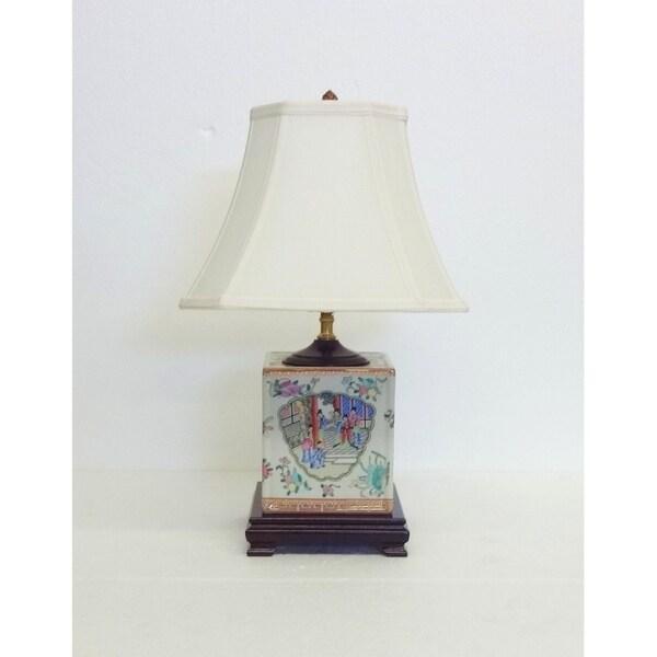 Rose Famille Box Porcelain Table Lamp