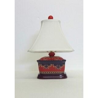 Arabesque Cover Box Porcelain Table Lamp