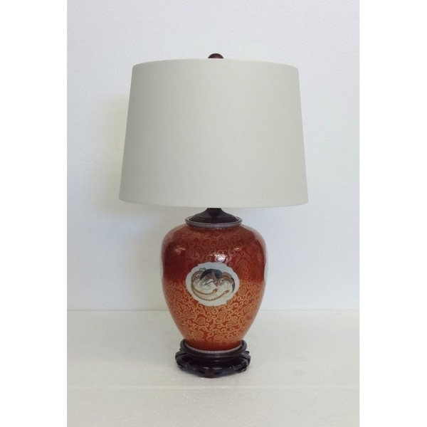 Mystical Bird Gourd Porcelain Table Lamp