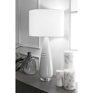 Watch Hill 29'' Ashley Ceramic Linen Shade Grey Table Lamp