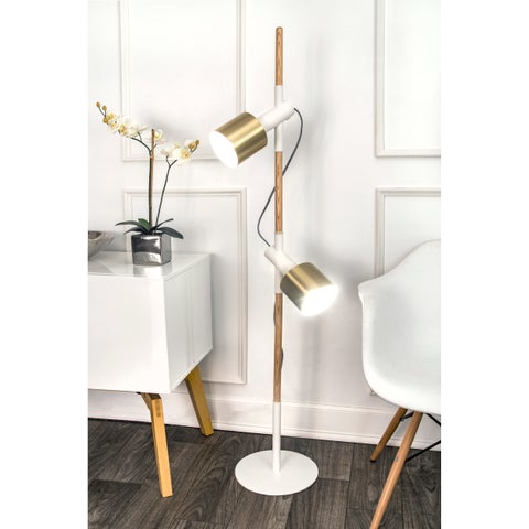 Watch Hill 57'' Anna Brass Metal Shade Floor Lamp