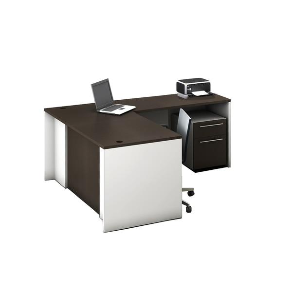 Reception Center Furniture 2pc Complete Group Model O4M1E5G0A Contemporary Espresso color. Refresh Your Reception Area.