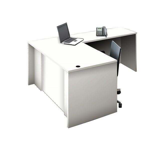 Reception Center Furniture 2pc Complete Group Model O4M1E5G1A Contemporary White color. Refresh Your Reception Area.